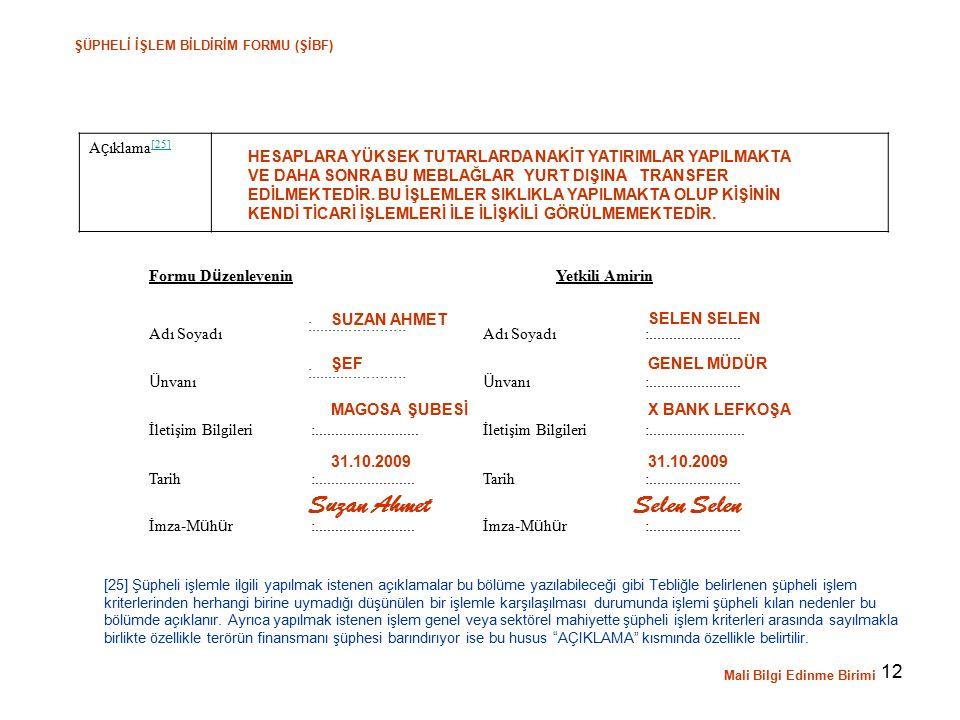 Suzan Ahmet Selen Selen Açıklama[25]